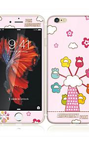 アップルのiPhoneのための6S / 6ソフトエッジフルスクリーン・カバレッジ・フロントスクリーンプロテクターとバックプロテクタースカイホイール漫画のパターンで4.7強化ガラス