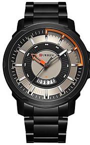 男性 軍用腕時計 ファッションウォッチ クォーツ / レザー バンド カジュアルスーツ ブラック シルバー ブランド CURREN