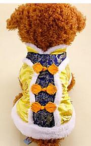 Perros Abrigos Rojo Amarillo Azul Ropa para Perro Primavera/Otoño Geométrico Año Nuevo