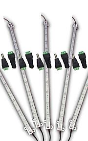 z®zdm 5pcs 0.5m 12w waterdicht 1 witte en 2 blauw / groep onder leiding installatie lichtbalk met 1 groep dc 12V connector