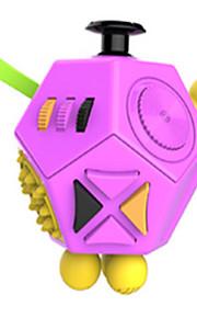 Brinquedos Cubo Macio de Velocidade Cube Fidget Novidades Alivia Estresse Cubos Mágicos Preta Roxa Plástico