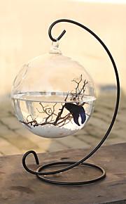 Mini Aquariums Decoration Glass Fish Tank Alloy Rack