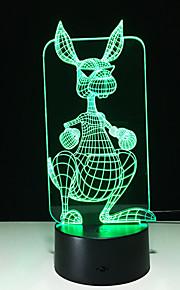 3D 창조적 인 개성 다채로운 터치 야간 조명을 주도