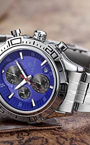Relógio de Moda Quartzo Aço Inoxidável Banda Pendente Casual Prata marca