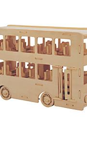 Palapelit DIY-setti Rakennuspalikat 3D palapeli Opetuslelut Palapeli Puiset palapelit Rakennuspalikoita DIY lelut Linja-auto 1 Puu Kulta