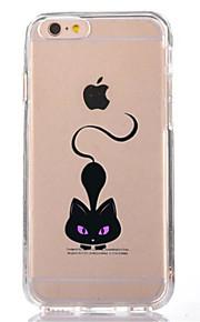 Pour Transparente Motif Coque Coque Arrière Coque Chat Flexible PUT pour AppleiPhone 7 Plus iPhone 7 iPhone 6s Plus iPhone 6 Plus iPhone