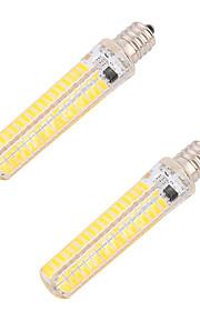 5W E14 E12 E17 E11 LED 콘 조명 T 136 SMD 5730 400 lm 따뜻한 화이트 차가운 화이트 밝기 조절 장식 AC 220-240 AC 110-130 V 2개