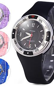 Unissex Relógio Esportivo Relógio Elegante Digital Borracha Banda Legal Preta Azul Rosa Roxa marca