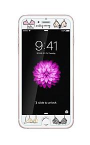 暗いブラジャーでエンボス漫画のパターン輝きを持つアップルのiPhoneのための6 / 6S 4.7inch強化ガラス透明なフロントスクリーンプロテクター