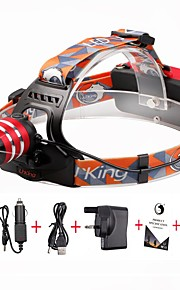U'king ZQ-G70000Red#-UK CREE T6 LED 2000LM 3Mode Adjustable Focus Headlamp Bike Light Kit for Camping/Hiking/Caving Everyday Use Cycling