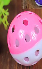 Kattleksak Hundleksak Husdjursleksaker Boll Gallerboll Slumpmässig färg Plast