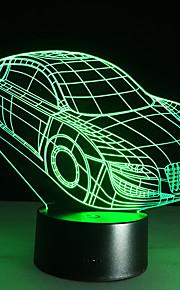 3d deco licht auto auto vorm usb lading touch switch lamp kleurrijke kinderen 's nachts licht