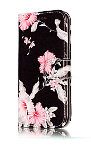 For Samsung Galaxy A5(2017) A3(2017) PU Leather Material Azalea Pattern Painted Phone Case A5(2016) A3(2016)