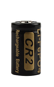 2pcs Soshine batteria ricaricabile 3v 400mAh ad alta capacità CR2 LiFePO4 per torce elettriche proiettori a LED