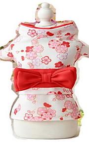 Hundar Smoking Hundkläder Sommar Blomma Gulligt Bröllop Cosplay Födelsedag Nyår Purpur Röd Rosa Svart ljusgrön
