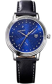 YAZOLE 남성 드레스 시계 패션 시계 캐쥬얼 시계 손목 시계 중국어 석영 PU 밴드 멋진 캐쥬얼 창의적 블랙 블랙 블루