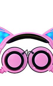 귀여운 만화 접이식 가벼운 헤드 밴드 chlidren 헤드폰 아이는 보호 3.5mm의 헤드셋을 유선 청각