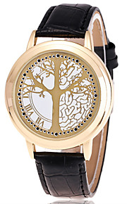 גברים לנשים שעוני ספורט שעוני שמלה שעוני אופנה שעון יד Chinese קווארץ עור אמיתי להקה מזל יום יומי יצירתי צבעוניזהב לבן שחור שחור וזהב