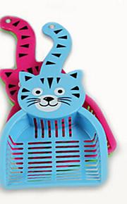 Katze Hund Futter-Vorrichtungen Haustiere Schüsseln & Füttern Wasserdicht Tragbar Doppel-seitig Zufällige Farben