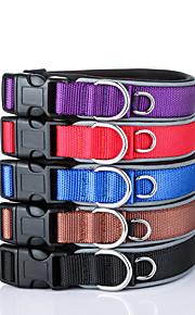 Hundar Halsband Reflekterande Justerbara/Infällbar Säkerhet Träning Solid Nylon Svart Purpur Brun Röd Blå