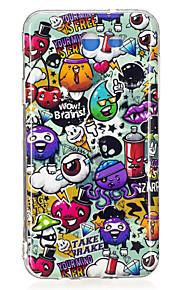 For Samsung Galaxy J5 J3 (2017) Case Cover Rubbish Pattern Luminous TPU Material IMD Process Soft Case Phone Case J5 J3 J7 (2016) J7(2017)