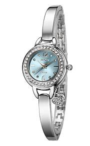 Mulheres Relógio de Moda Quartzo Lega Banda Prata Branco Preto Azul Claro Vermelho