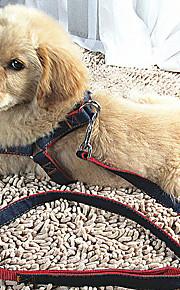 Katter Hundar Selar Koppel Justerbara/Infällbar Andningsfunktion Säkerhet Träning Löpning Solid Tyg Röd Blå Svart