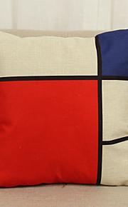 1 pçs Linho Cobertura de Almofada Fronha,Inovador Textura Geométrico Moderno/Contemporâneo Casual Outros