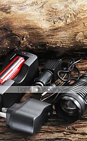 Led Lommelygter / Lommelygter Led 5 Tilstand 1800/2000/2200 Lumen 18650 Cree Xm-L T6 Batteri -Camping/Vandring/Grotte Udforskning /