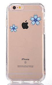 För Genomskinlig Mönster fodral Skal fodral Blomma Mjukt TPU för AppleiPhone 7 Plus iPhone 7 iPhone 6s Plus iPhone 6 Plus iPhone 6s