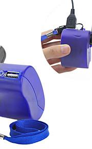 usb Handkurbel manuell Dynamo-Handy-Ladegerät Notfall für mp4 mp3 Handy pda-- blau