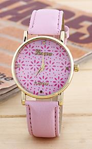 Mulheres Relógio de Moda Quartzo Couro Banda Casual Rosa Roxa Roxo Rosa claro