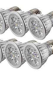 4W E26/E27 LED-spotpærer 4 Høyeffekts-LED 360 lm Kjølig hvit V 6 stk.