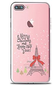 För Genomskinlig Mönster fodral Skal fodral Eiffeltornet Mjukt TPU för AppleiPhone 7 Plus iPhone 7 iPhone 6s Plus iPhone 6 Plus iPhone 6s