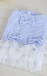 Dog Tuxedo Dress Cotton Dog Suspender Skirt Summer Princess Cute Fashion Birthday Wedding Light Green Light Blue Purple