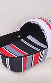 cane gatto letto animali domestici letto tessile striscia nera