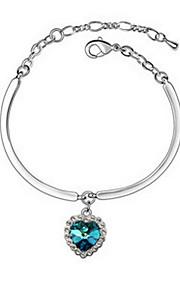 Dame Kæde & Lænkearmbånd Smykker Venskab Mode Krystal Legering Geometrisk form Blå Smykker For Fest Fødselsdag 1 Stk.