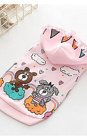 개 점프 수트 강아지 의류 여름 청바지 귀여운 패션 캐쥬얼/데일리 화이트 핑크