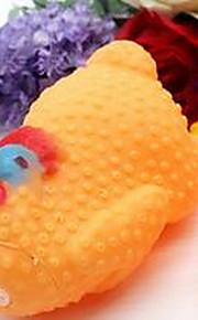 Игрушка для собак Игрушки для животных Игрушки с писком Скрип Резина Желтый Розовый