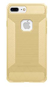 För Stötsäker fodral Skal fodral Enfärgat Mjukt Kolfiber för AppleiPhone 7 Plus iPhone 7 iPhone 6s Plus iPhone 6 Plus iPhone 6s iPhone 6