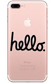 Para Transparente Estampada Capinha Capa Traseira Capinha Palavra / Frase Macia TPU para AppleiPhone 7 Plus iPhone 7 iPhone 6s Plus