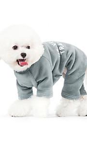 Hunde Jumpsuits Pyjamas Hundetøj Vinter Forår/Vinter Bogstav & Nummer Afslappet/Hverdag Grå Blå