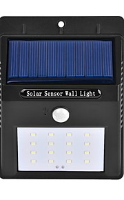 1個の屋外太陽光発電16 smd ledモーションセンサーウォールライトガーデンランプ