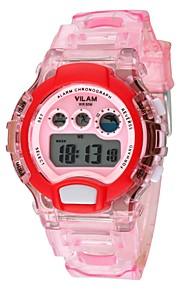 Vilam Infantil Relógio Esportivo Relogio digital Digital Calendário Cronógrafo Impermeável Luminoso Resistente ao Choque Colorido Silicone