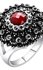 Statement-ringe Ring Unikt design Mode Vintage Personaliseret Euro-Amerikansk luksus smykker Statement-smykker Glas LegeringRund form