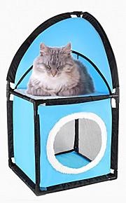 ネコ ベッド ペット用 マット/パッド 純色 高通気性 折り畳み式 ブルー