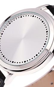 Masculino Relógio Esportivo Relógio de Moda Único Criativo relógio Relogio digital Chinês Digital Luminoso Couro BandaLegal Casual