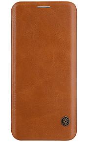 삼성 갤럭시 s8 s8 더하기 nillkin 카드 홀더 플립 케이스 전신 케이스 솔리드 컬러 하드 pu 가죽에 대한 삼성