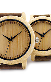 Casal Relógio de Moda Relógio Madeira Relógio de Pulso Único Criativo relógio Relógio Casual Japanês Quartzo Quartzo Japonês de madeira