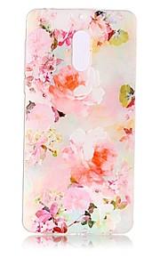 Para Carcasa Funda Transparente En Relieve Diseños Cubierta Trasera Funda Flor Suave TPU para Nokia Nokia 6